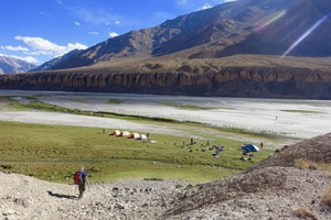 Sue Lawty's adventures in wild Zanskar at the Destinations Travel Show