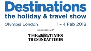Claim your free tickets to Destinations holiday & travel show 2018