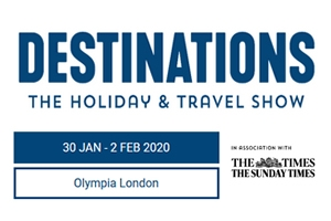 Join us at Destinations: The Holiday & Travel Show 2020 - free tickets available