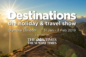 Join us at Destinations holiday & travel show 2019 - Claim your free tickets