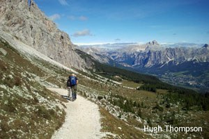Hugh Thompson treks the mighty Dolomites