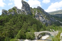 verdon gorge trek tousset bridge.