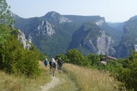 verdon gorge trek walk to mourre de chanier.