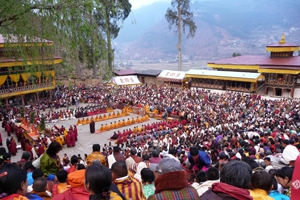 A royal birthday party in Bhutan